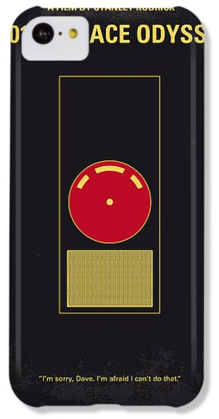 No003 My 2001 A Space Odyssey 2000 Minimal Movie Poster IPhone 5c Case by Chungkong Art