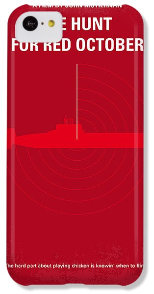 No198 My The Hunt For Red October Minimal Movie Poster IPhone 5c Case by Chungkong Art
