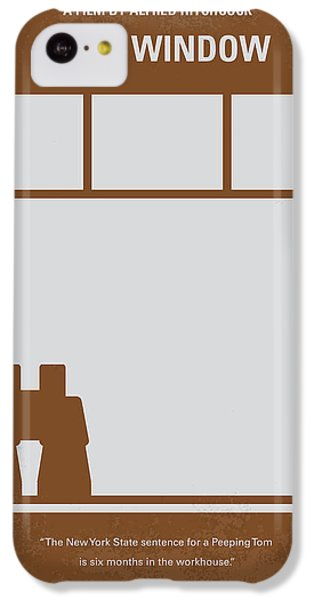 No238 My Rear Window Minimal Movie Poster IPhone 5c Case by Chungkong Art