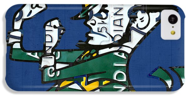 Notre Dame Fighting Irish Leprechaun Vintage Indiana License Plate Art  IPhone 5c Case by Design Turnpike