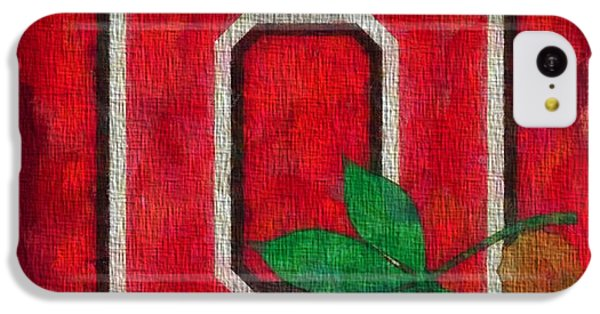 Ohio State Buckeyes On Canvas IPhone 5c Case by Dan Sproul