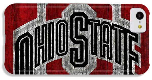 Ohio State University On Worn Wood IPhone 5c Case by Dan Sproul