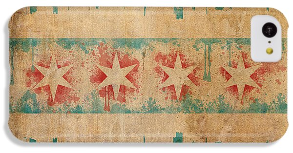 Old World Chicago Flag IPhone 5c Case by Mike Maher