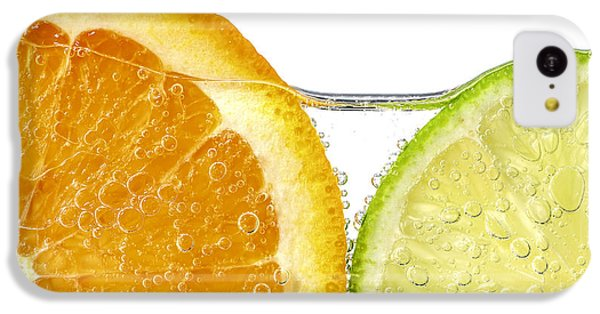 Orange And Lime Slices In Water IPhone 5c Case by Elena Elisseeva