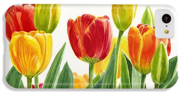 Orange And Yellow Tulips Horizontal Design IPhone 5c Case by Sharon Freeman