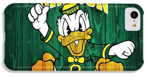 Oregon Ducks Barn Door IPhone 5c Case by Dan Sproul