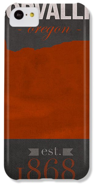 Oregon State University Beavers Corvallis College Town State Map Poster Series No 087 IPhone 5c Case by Design Turnpike