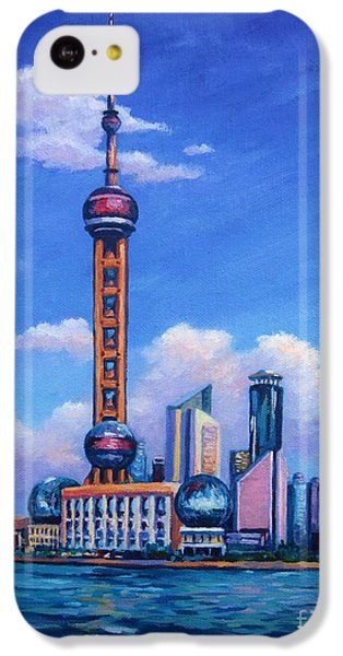 Oriental Pearl Shanghai IPhone 5c Case by John Clark
