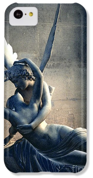Paris Eros And Psyche Romantic Lovers - Paris In Love Eros And Psyche Louvre Sculpture  IPhone 5c Case by Kathy Fornal