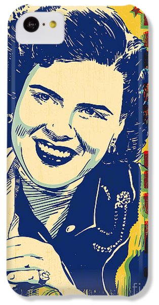Patsy Cline Pop Art IPhone 5c Case by Jim Zahniser