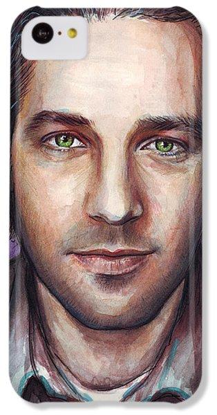 Paul Rudd Portrait IPhone 5c Case by Olga Shvartsur