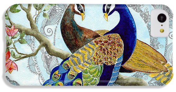 Peacock Love IPhone 5c Case by Susy Soulies