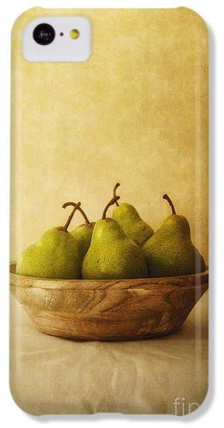 Pears In A Wooden Bowl IPhone 5c Case by Priska Wettstein