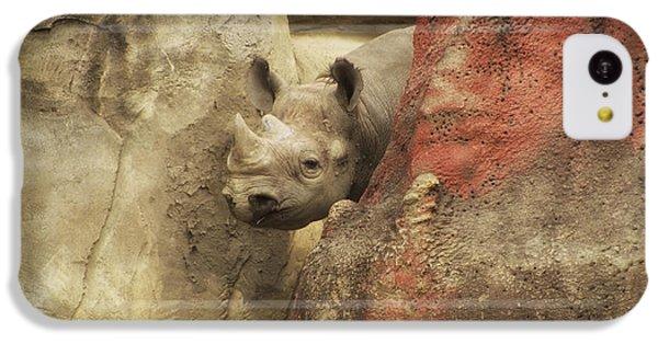 Peek A Boo Rhino IPhone 5c Case by Thomas Woolworth