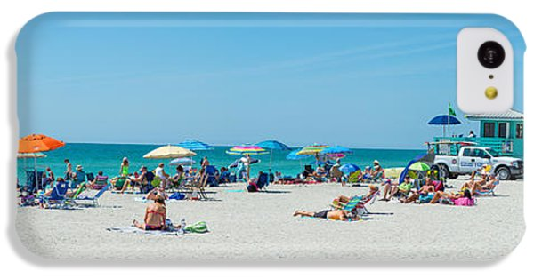 People On The Beach, Venice Beach, Gulf IPhone 5c Case by Panoramic Images