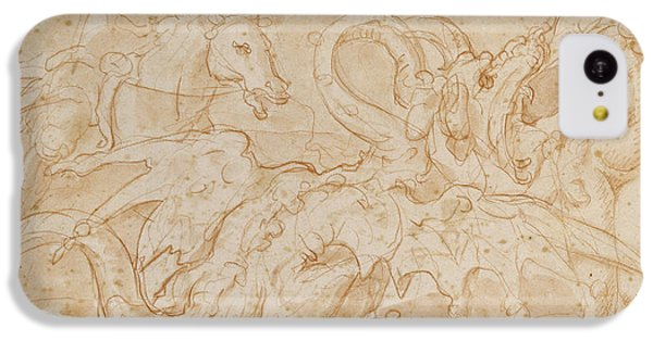Perseus Rescuing Andromeda Red Chalk On Paper IPhone 5c Case by or Zuccaro, Federico Zuccari