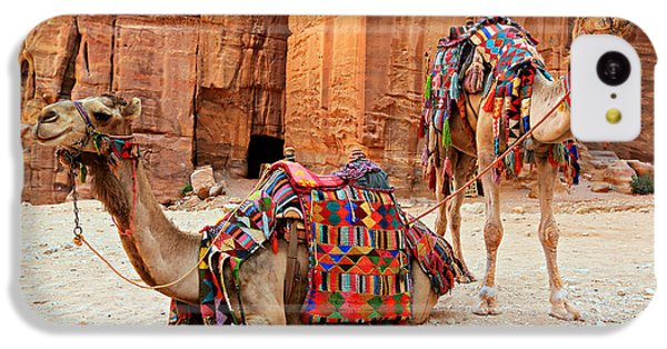 Petra Camels IPhone 5c Case by Stephen Stookey
