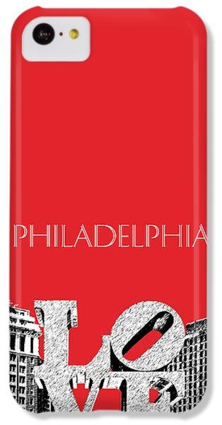 Philadelphia Skyline Love Park - Red IPhone 5c Case by DB Artist