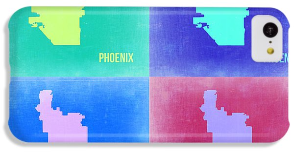 Phoenix Pop Art Map 1 IPhone 5c Case by Naxart Studio