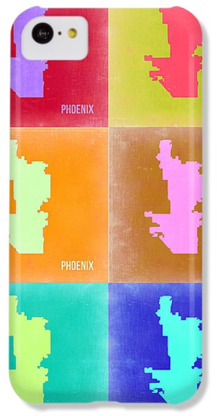 Phoenix Pop Art Map 3 IPhone 5c Case by Naxart Studio