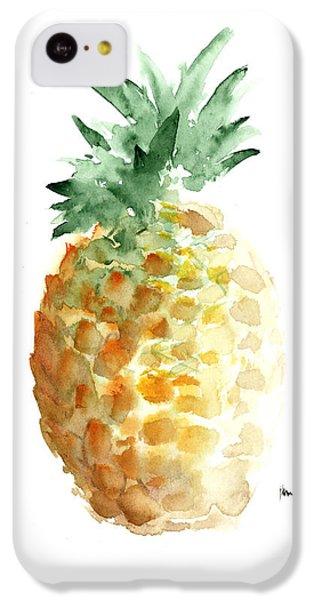 Pineapple Art Print Watercolor Painting IPhone 5c Case by Joanna Szmerdt