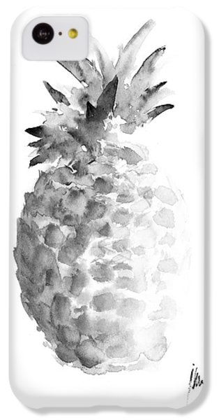 Pineapple Painting Watercolor Art Print IPhone 5c Case by Joanna Szmerdt