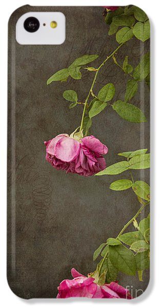 Pink On Gray IPhone 5c Case by K Hines