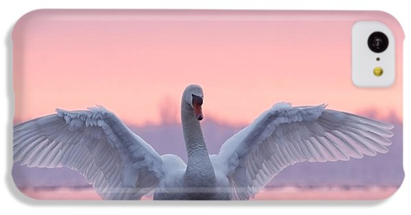 Pink Swan IPhone 5c Case by Roeselien Raimond