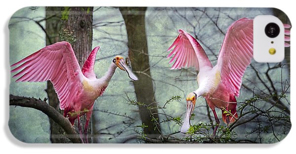 Pink Wings In The Swamp IPhone 5c Case by Bonnie Barry