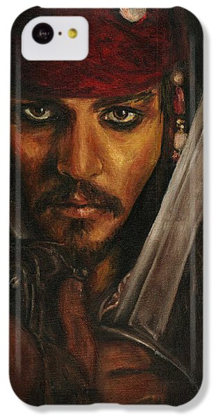 Pirates- Captain Jack Sparrow IPhone 5c Case by Lina Zolotushko
