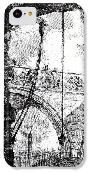 Plate 4 From The Carceri Series IPhone 5c Case by Giovanni Battista Piranesi