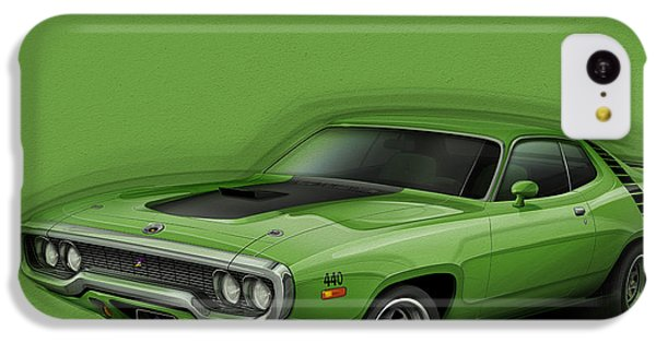 Plymouth Roadrunner 1972 IPhone 5c Case by Etienne Carignan