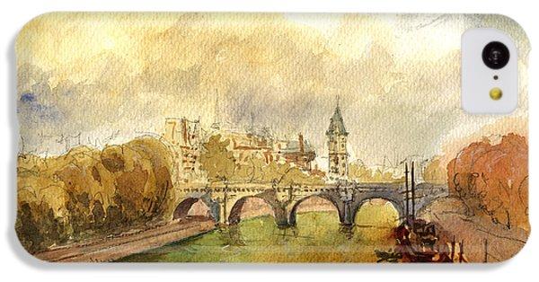 Ponte Neuf Paris IPhone 5c Case by Juan  Bosco