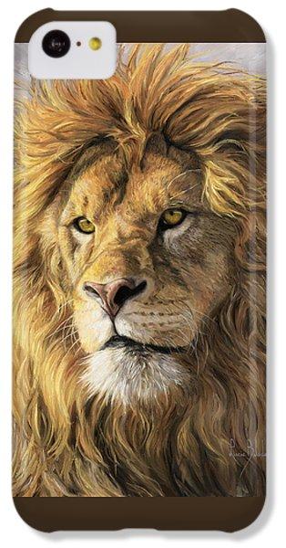 Portrait Of A Lion IPhone 5c Case by Lucie Bilodeau