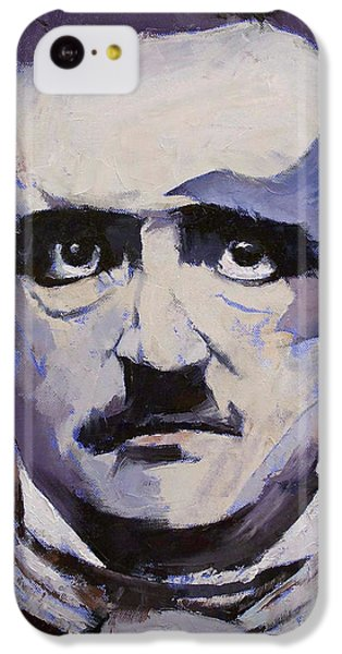 Edgar Allan Poe IPhone 5c Case by Michael Creese