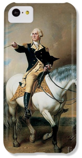 Portrait Of George Washington Taking The Salute At Trenton IPhone 5c Case by John Faed