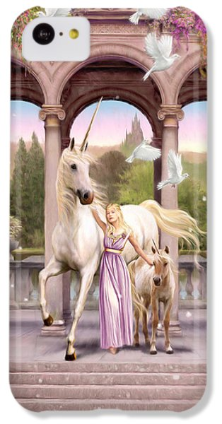 Princess Of The Unicorns Variant 1 IPhone 5c Case by Garry Walton
