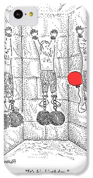 Prisoner In Dungeon Has Orange Balloons Attached IPhone 5c Case by Robert Mankoff