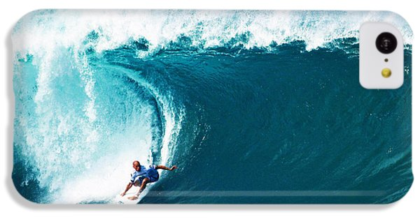Pro Surfer Kelly Slater Surfing In The Pipeline Masters Contest IPhone 5c Case by Paul Topp