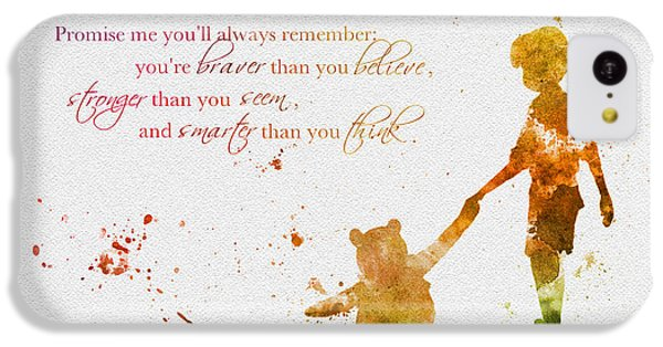 Promise Me You'll Always Remember IPhone 5c Case by Rebecca Jenkins