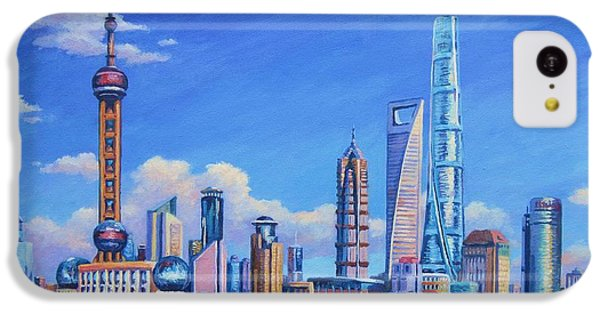 Pudong Skyline  Shanghai IPhone 5c Case by John Clark