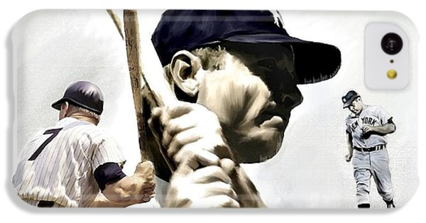 Quality Of Greatness Mickey Mantle IPhone 5c Case by Iconic Images Art Gallery David Pucciarelli