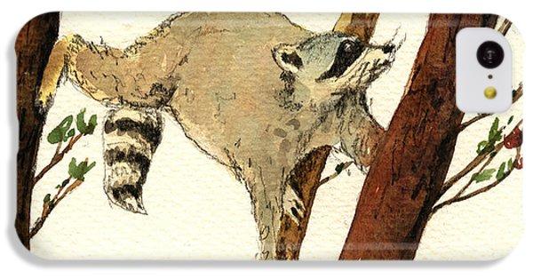 Raccoon On Tree IPhone 5c Case by Juan  Bosco