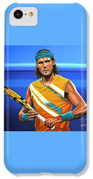 Rafael Nadal IPhone 5c Case by Paul Meijering
