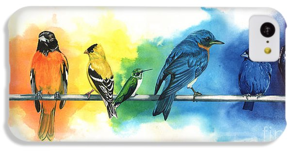 Rainbow Birds IPhone 5c Case by Antony Galbraith