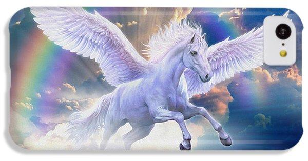 Rainbow Pegasus IPhone 5c Case by Jan Patrik Krasny