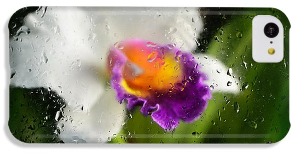 Rainy Day Orchid - Botanical Art By Sharon Cummings IPhone 5c Case by Sharon Cummings