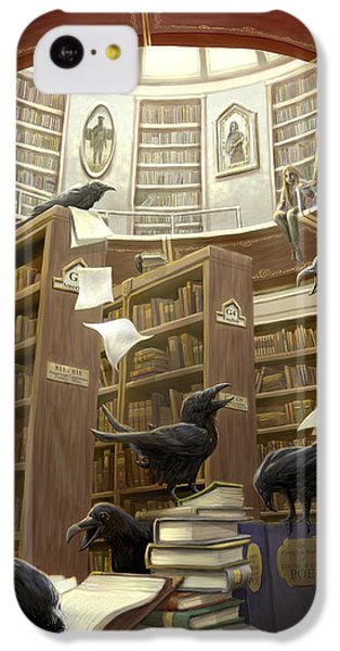 Ravens In The Library IPhone 5c Case by Rob Carlos