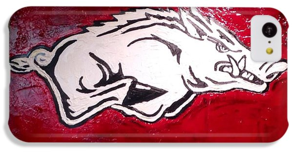 Razorback Painting Art IPhone 5c Case by Dawn Bearden