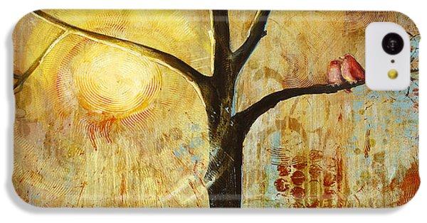 Red Birds Tree Version 2 IPhone 5c Case by Blenda Studio